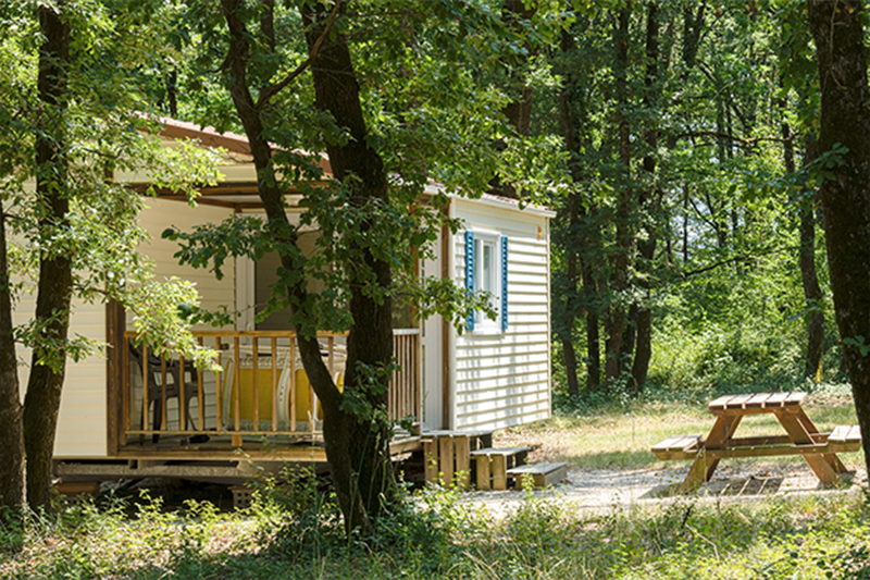 Réservation mobilhome ou chalet, camping du Domaine de Miraval